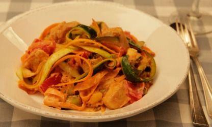 Low Carb-Bandnudeln aus Zucchini und Karotten
