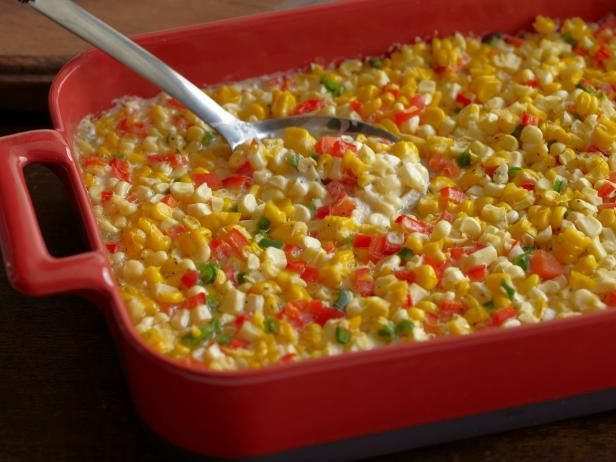 Fresh Corn Casserole with Red Bell Peppers and Jalapenos rhee Drummond