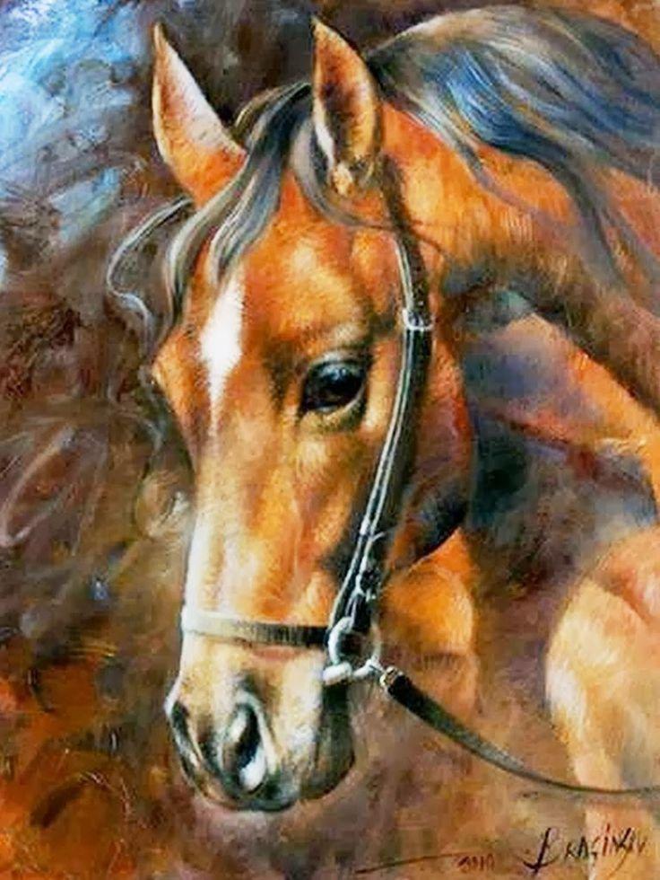 M s de 25 ideas fant sticas sobre pinturas de caballo en - Cuadros con tela de saco ...