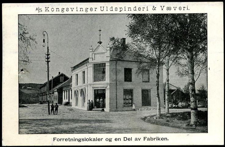 A/S KONGSVINGER ULDSPINDERI & VÆVERI. Forretningslokaler og en Del av Fabriken. Br. 12.III.1916