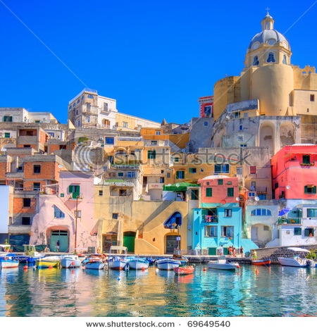 Procida, beautiful island in the mediterranean sea, naples.