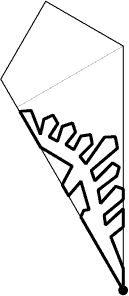Paper pattern of snowflake2