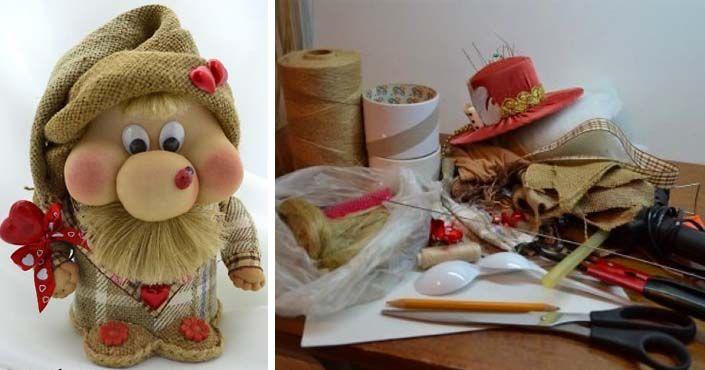 Roztomil�ho trpasl�ka si m�ete vyrobi� vlastnoru�ne. S t�mto n�vodom to zvl�dne ka�d�! Handmade trpasl�k. N�pad, n�vod, DIY, hra�ka, Vianoce, dekor�cia