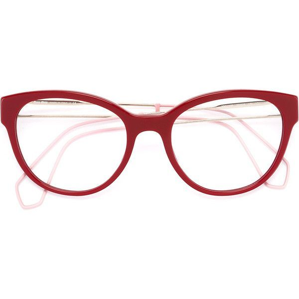 27ddebc678 Miu Miu Eyewear round frame glasses ( 304) ❤ liked on Polyvore featuring  accessories