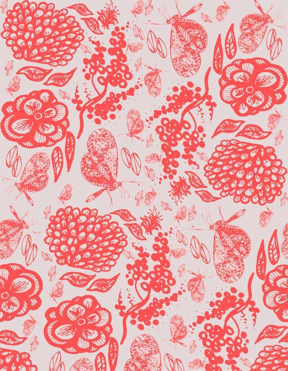 Monochromatic-  Samantha Hahn Surface Pattern