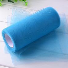 warm te koop blauwe mat decoraties tule roll spoel 6 inch x 25 yard tutu bruiloft geschenk ambachtelijke partij tutu boog ambachtelijke levendige diy gift(China (Mainland))