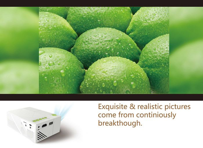 G19 Home Theater LED Mini Projector w / SD, HDMI, AV, USB - White - Free…