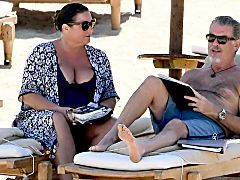 Pierce Brosnan And His Wife Show Off Their Beach Bodies On Vacay