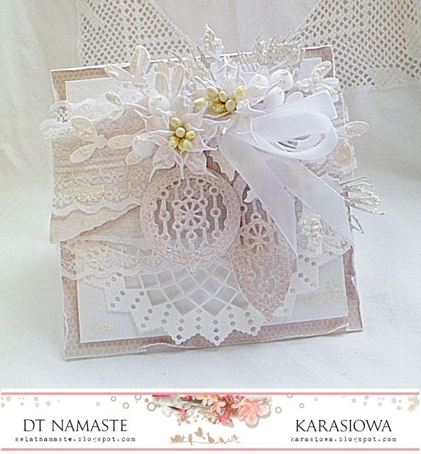 .: Świąteczna karteczka z bombkami - DT Namaste