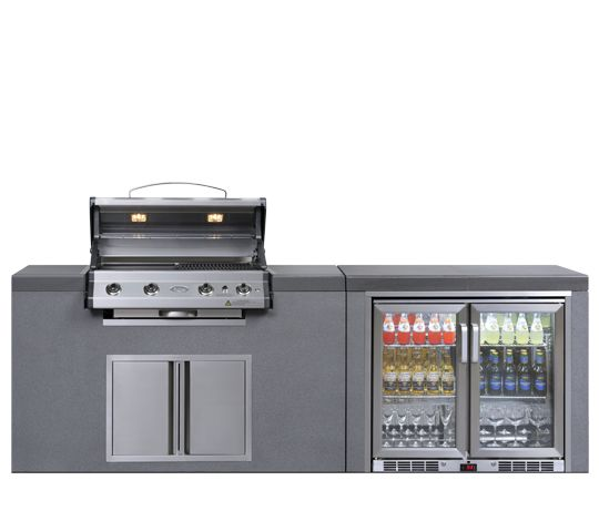 Beyond The Barbecue 15 Streamlined Kitchens For Outdoor: Everdure Alfresco 4 Burner Barbecue Island Module 4BIMLPC