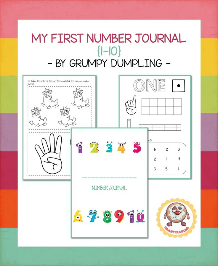 My First Number Journal {1-10} This resource has 2 worksheets for each number. Your kids will be able to practise numbers with ten frames, tracing, coloring and their number recognition skills.