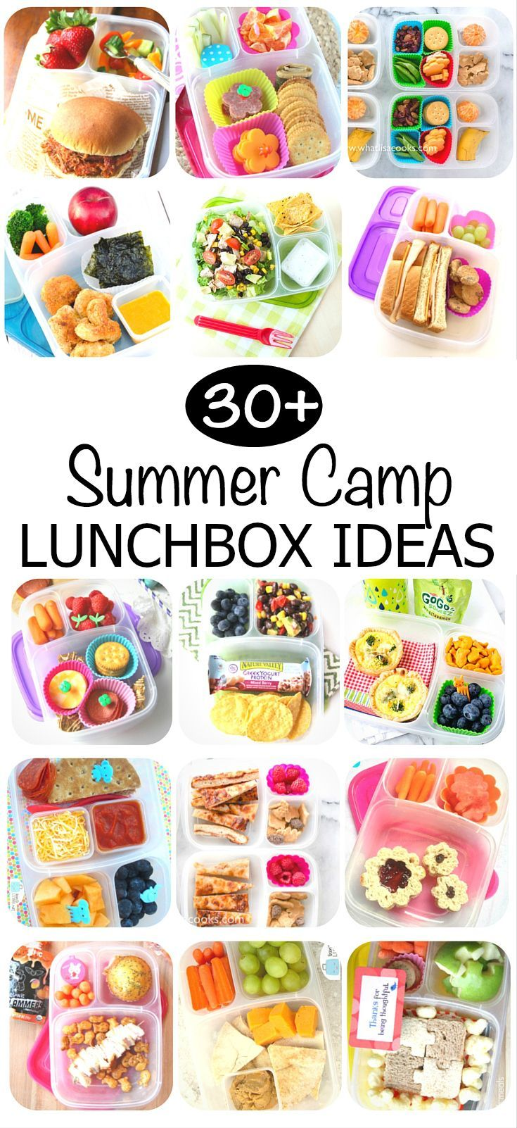 30+ Summer Camp Lunch Box ideas your kids will LOVE! Ideas and recipes included.