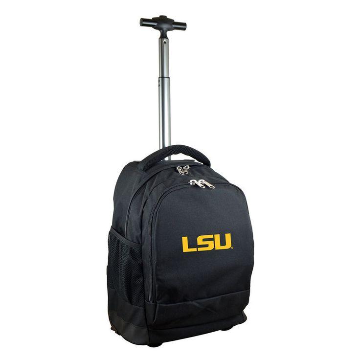 LSU Tigers 19'' Premium Wheeled Backpack - Black