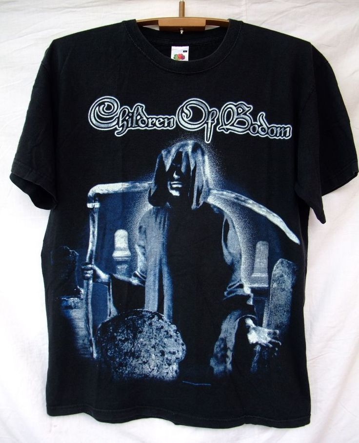 RARE Children Of Bodom Metal Band Music T-shirt Tee sqcvLZjA