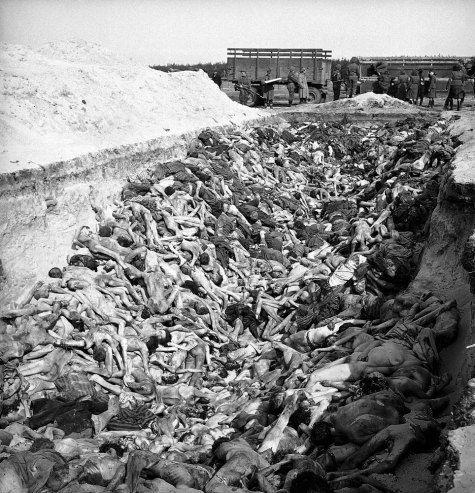 Mass grave at Bergen-Belsen, April 1945