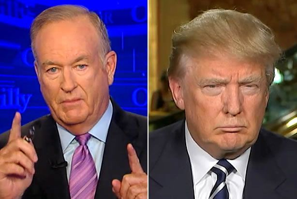 """""""Don't walk away from it!"""" yelled Bill O'Reilly to Donald Trump on Wednesday night's O'Reilly Factor on Fox News.  O'Reilly scolded, cajoled, and very nearly begged Trump to reconsider his decision to spurn Thursday's Fox-sponsored debate because of the candidate's hurt feelings regarding moderator Megyn"""