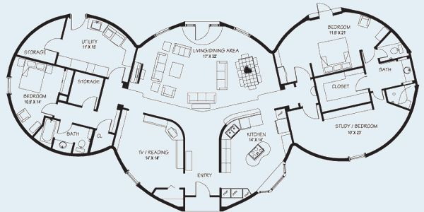 Hobbit House Floor Plans | Floor Plans | www.dome-homes.com