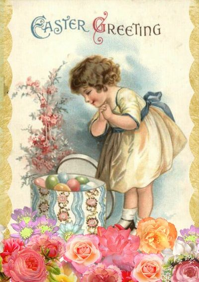 Easter Greeting Card Design Free Digital Images Vintage, GIF and Clip Art - Artsy Bee Digital Images