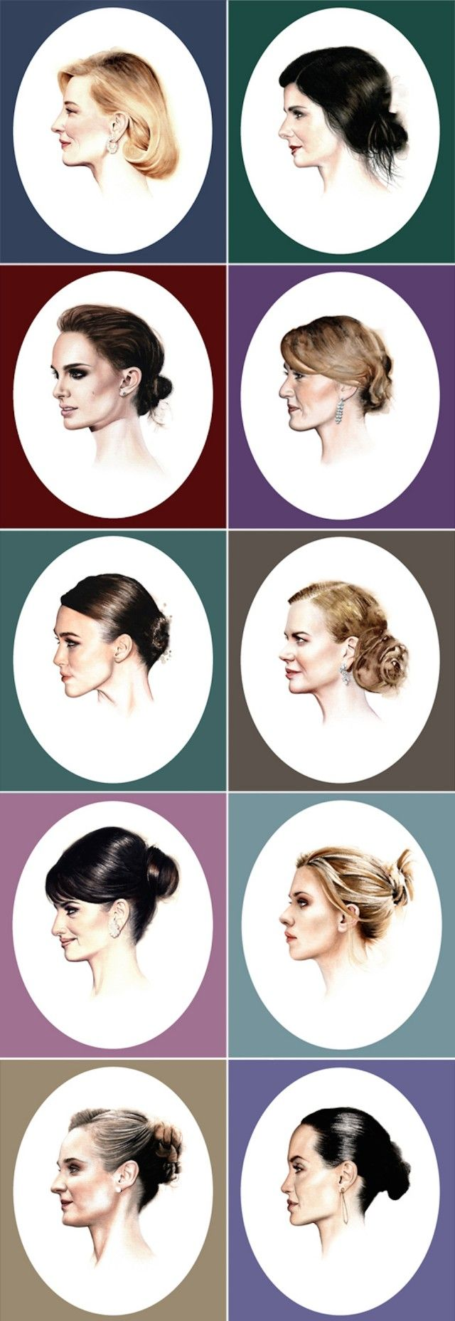 Davide Morettini's Watercolor Portraits of Hollywood Actresses – Fubiz™