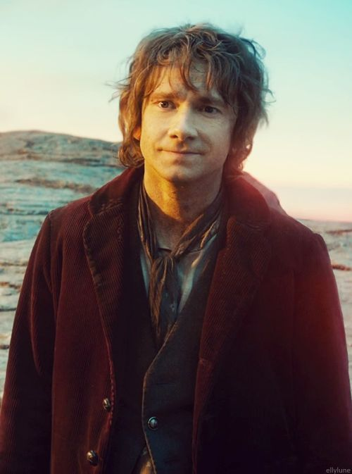 That's the face of a Hobbit who is just about to get a bro hug from a deposed dwarf king's son for being the hero he will then claim not to be.  Being a nerd means we get to write sentences like that. :)