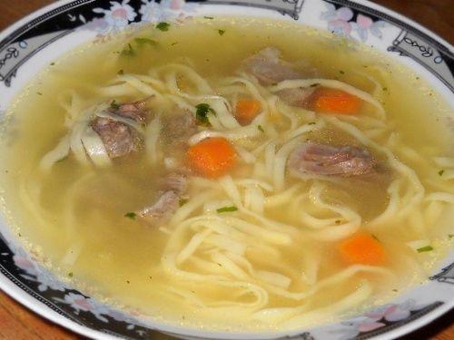 Supa de vitel cu taitei de casa - imagine 1 mare