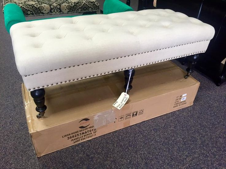 Brand new cream-colored cushioned bench with wheels. Only $165! <br> <br>This item is located at:   <br><b>Yesterday's Galleria  <br>2770 Piney Green Road   <br>Midway Park, NC <br>(By the Railroad Tracks)   <br>(910)238-2542 </b>  <br> <br>Monday-Saturday 10a-7p <br>Sunday 11a-6p <br>  <br>Check out our other items!   <br>Not all of our items are listed, so be sure to stop in! <br>We also have home decor, electronics, military surplus, video games and systems, antiques, jewelry, and more…