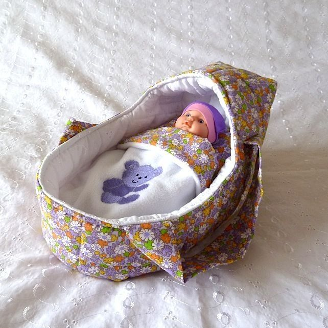 Small Doll's Carrycot with Free Doll £12.99