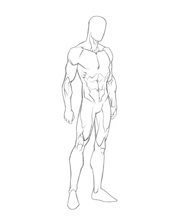 Male Drawing Template
