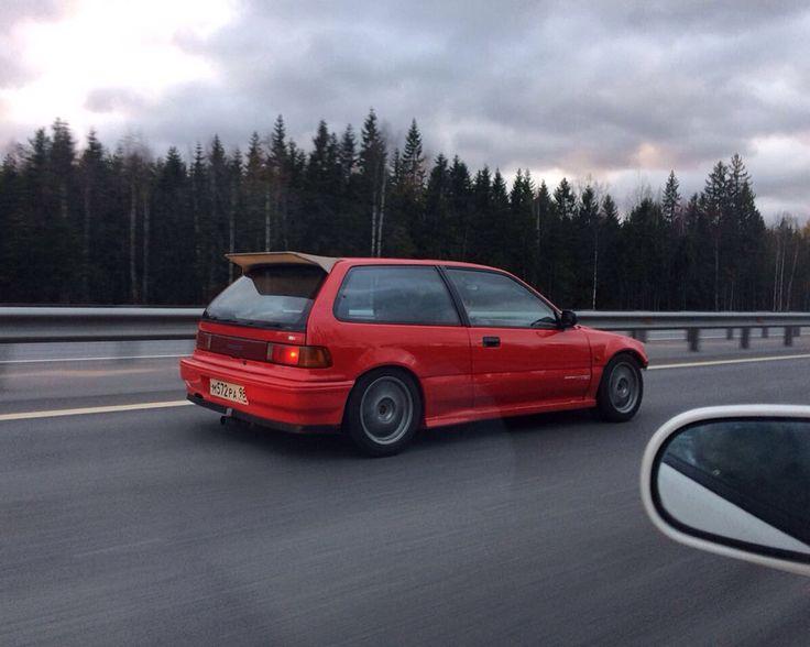 Red go fasta🚗🚓🚓 #Fiberglass #Honda #Civic #ED7 #b19vtec Russia, Saint-petersburg