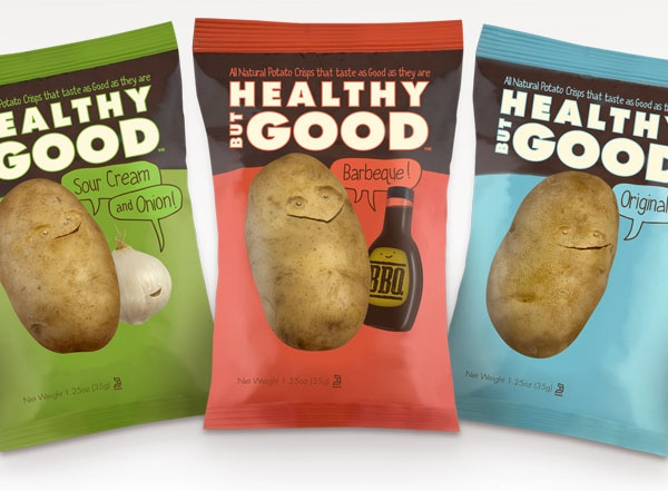 Potato Chip Packaging Lineup by Healthy But Good, Inc., Los Angeles, CA