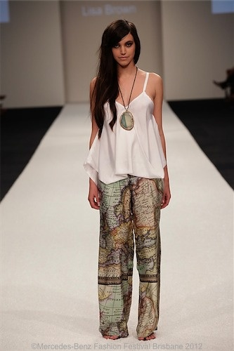 Lucille Top & Neva Map Print Pant @byLisaBrown