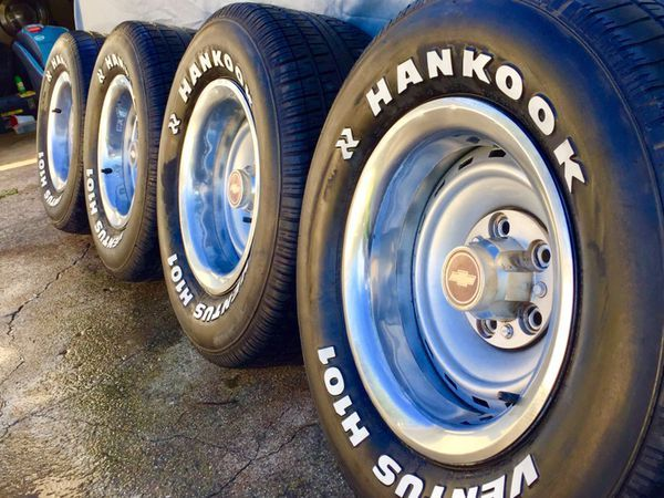 15x8 Chevy C10 Rally Wheels N 275 60 15 Tires For Sale In Dallas