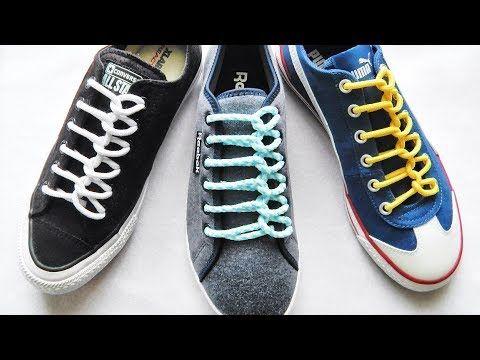靴紐の結び方〕スプーンが並んでいるみたいな靴ひもの通し方 丸