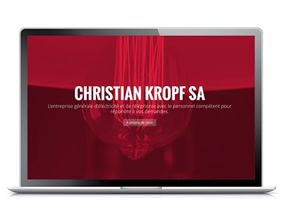 """Check out new work on my @Behance portfolio: """"Kropf Electricité"""" http://be.net/gallery/44361405/Kropf-Electricit"""