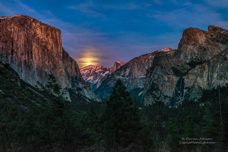 Full Moon over Yosemite National Park by Darvin Atkeson on 500px