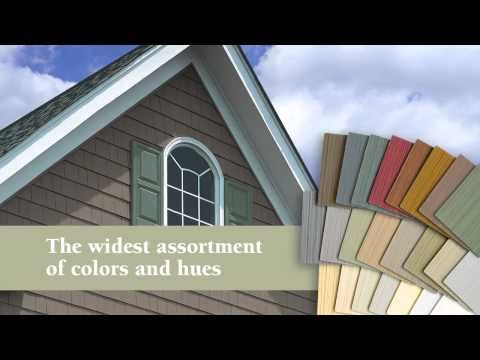 Cedar Shake Vinyl Siding has that rugged natural look for half the cost