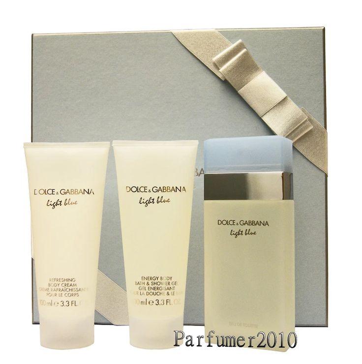 Dolce & Gabbana Light Blue 100ml EDT& 100ml Body Cream &100ml Shower Gel