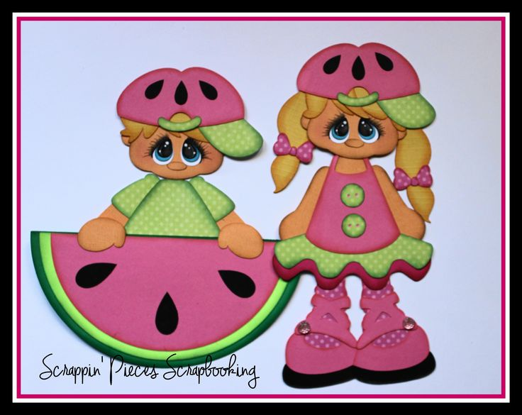 "Scrappin' Pieces Scrapbooking ""Little Fruities Watermelon"""