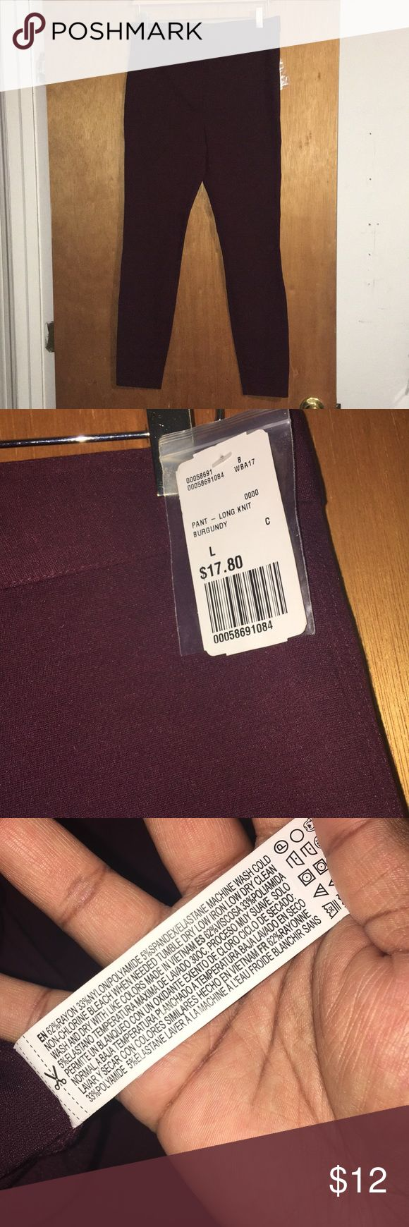 F21 burgundy jeggins Super stretchy regular waist jeggins Forever 21 Pants Leggings