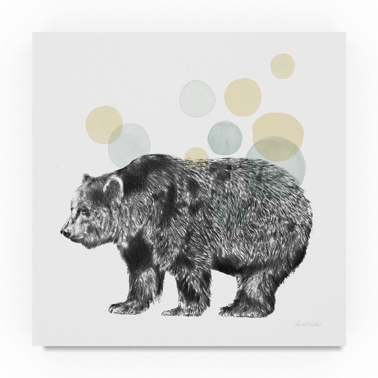 Lamai Mccartan 'Sketchbook Lodge Bear Neutral' Canvas Art