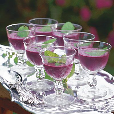 Chilled Blueberry Soup, I've been craving this since I had it at The Hope Club last summer!!!!