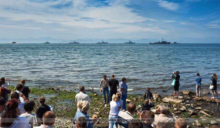 День Военно-морского флота на Камчатке — боевые корабли и подводные лодки в Авачинской губе (бухте)-Kamchatka