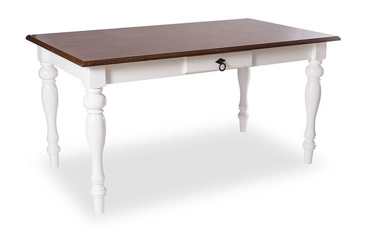 Voc� sempre quis decorar a sala de jantar com uma mesa vintage super estilosa? A mesa de jantar com p�s torneados Col�nia � simplesmente fant�stica!Esta mesa de jantar colonial � um charme e com certeza vai encher a sua sala de jantar ou cozinha com muito estilo.�A mesa de jantar retr� Col�nia possui gaveta funcional, que n�o � falsa, voc� pode utiliz�-la para guardar o que preferir