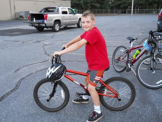 Sammy at his cub scout bike event