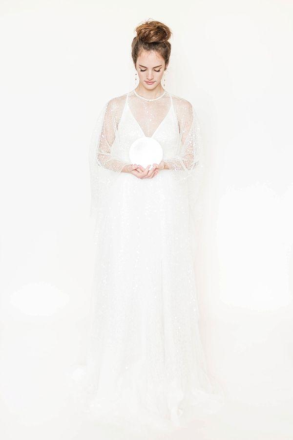 Celestial Inspired Bridal Cape    #wedding #weddingideas #aislesociety #bridal