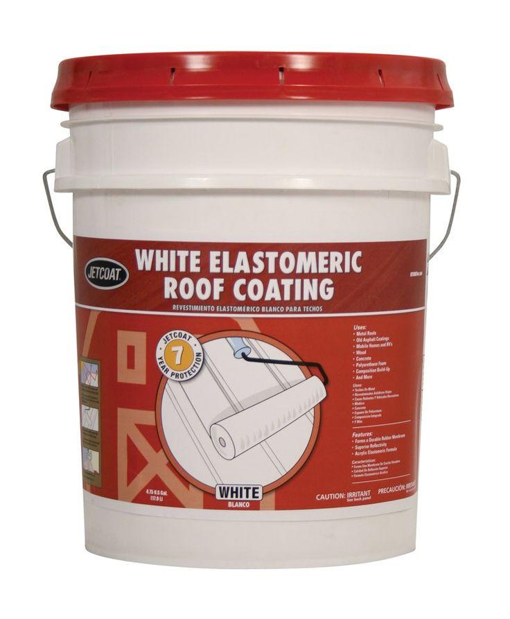 Jetcoat White Elastomeric Roof Coating 7yr 5 Gal