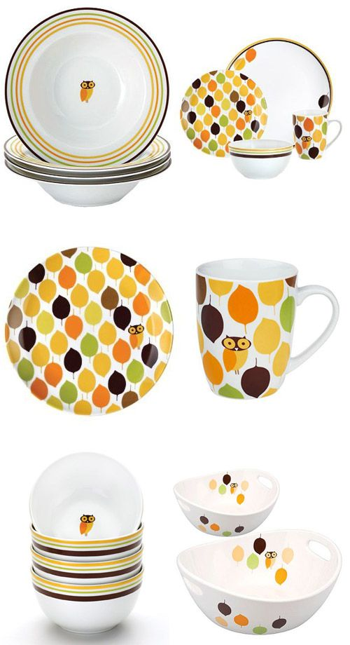 Rachael Ray Little Hoot Dinnerware Collection. Oh how I want these soooo bad  sc 1 st  Pinterest & 38 best Kitchen images on Pinterest | Dish sets Dishes and Mug