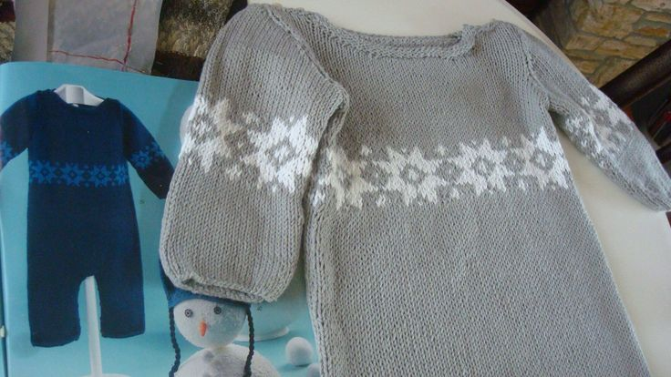 Knitted Body suit for babys by miCalorKnits on Etsy