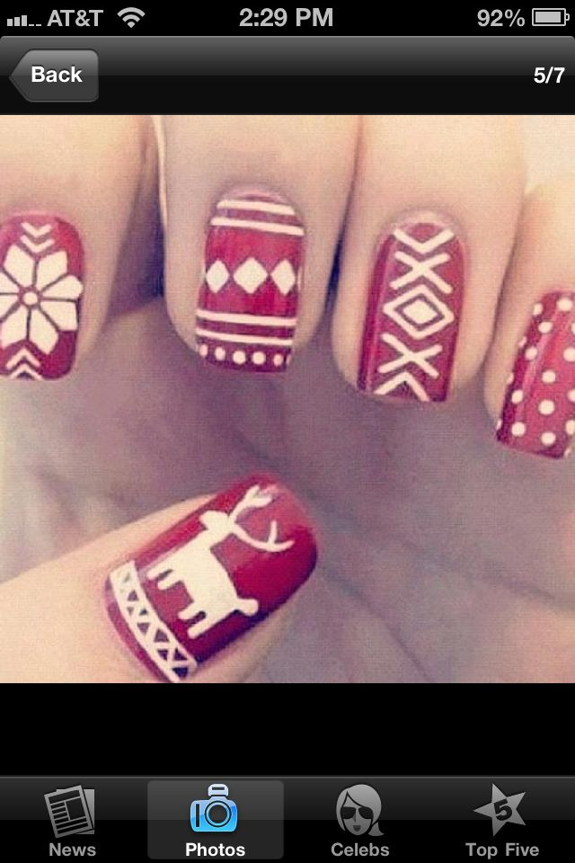 136 Best Images About Christmas Nails On Pinterest Nail Art Reindeer And Milwaukee