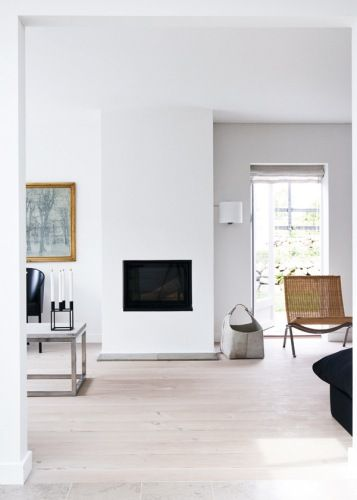 simple fireplace, modern interior design